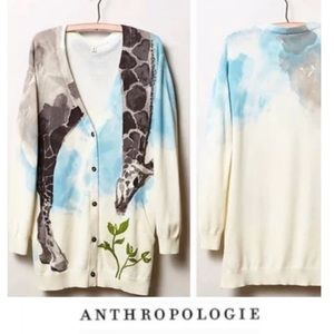 Anthropologie Moth Giraffe Cardigan Sweater